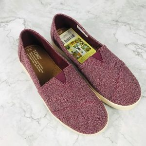 TOMS   Avalon Eggplant Terry Cloth Shoes